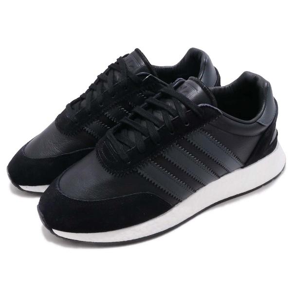 【五折特賣】adidas 休閒鞋 I-5923 黑 白 男鞋 BOOST 中底 麂皮 運動鞋【PUMP306】 BD7798