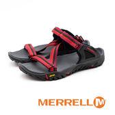 MERRELL ALL OUT BLAZE WEB 織帶拖鞋 女鞋 - 紅