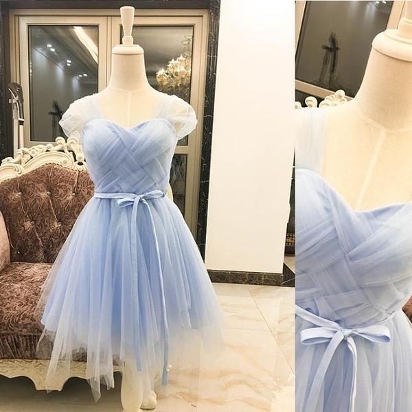 2020新款雙包肩蓬蓬禮服連衣裙伴娘團姐妹裙小禮服