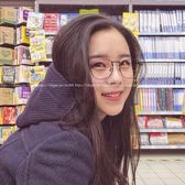 現貨-韓國ulzzang原宿復古文藝風格金屬平光鏡框 學院風方框造型眼鏡 造型框 大框方框51