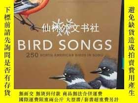 二手書博民逛書店【罕見】Bird Songs:250 north america