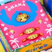 迪士尼系列金飾-史迪奇款黃金彌月禮盒五件組(0.30錢)