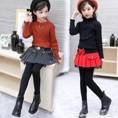 兒童褲裙女童裙褲秋冬洋氣外穿兒童打底褲加絨新款百搭假兩件女孩褲裙 新年禮物