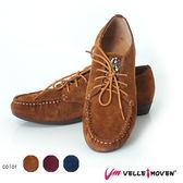 休閒便鞋 小編鑽 VelleMoven 綁帶全真皮 特色閃亮鞋 優質駝
