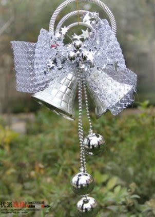 聖誕裝飾 場景布置 聖誕鈴鐺 超大號刻花大鈴鐺