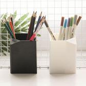 文具筆筒 簡約多功能筆筒黑白系學生筆筒桌面文具收納盒辦公用 宜室家居