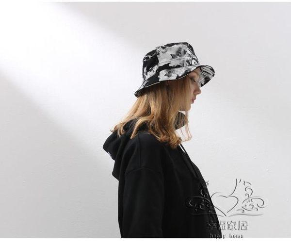 正韓潮人帽子女 涂鴉字母日系街頭風漁夫帽  出游折疊帽【1件免運】