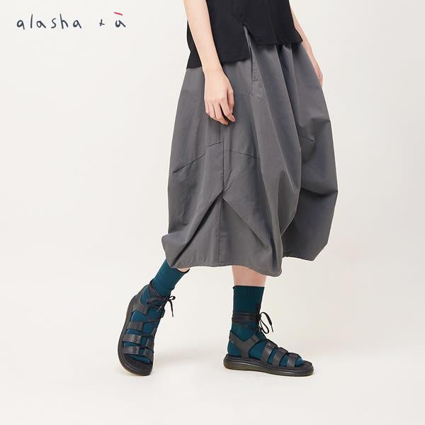 a la sha+a 立體活摺中長裙
