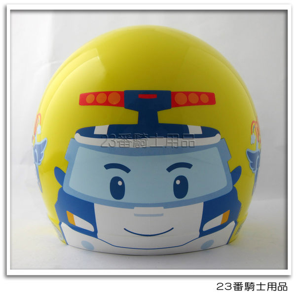 【KK 兒童 安全帽 POLI 02 波力 大臉 兒童帽 黃色】3/4罩、附鏡片