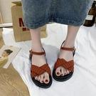 羅馬涼鞋女仙女風ins潮2020年夏季新款厚底鬆糕港風復古沙灘鞋子