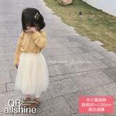 女童紗裙 甜美飄逸荷葉縮腰長裙 QB allshine