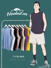背心夏季健身跨欄籃球運動背心男潮寬鬆坎肩外穿男士純棉打底無袖T恤 小天使