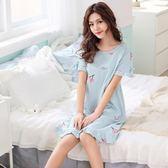 韓版純棉甜美清新可愛卡通睡裙