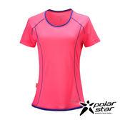 PolarStar 女 排汗快乾圓領T恤『粉紅』P17132 吸濕排汗│瑜珈休閒服│短袖透氣運動服│慢跑路跑