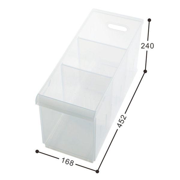 【好市吉居家生活】嚴選聯府KEYWAY~LF-1003 Fine隔板整理盒(附輪) 透明收納盒