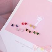 網紅純銀耳釘女氣質簡約貓咪耳環飾品【聚可愛】