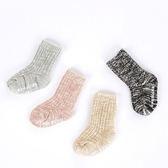 粗針織毛線止滑中筒襪 童襪 止滑襪