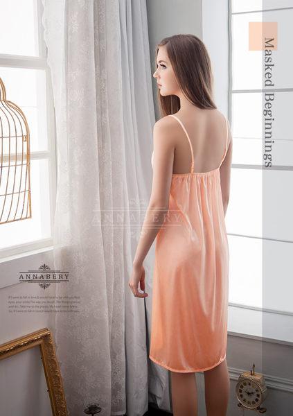 (特價) 大尺碼 Annabery粉橘天空甜美柔緞睡衣 (OS小舖)