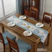 桌巾 美式鄉村桌旗棉麻餐桌椅子套罩布藝椅墊床尾巾中式電視櫃茶幾桌布新年禮物