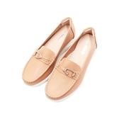 【南紡購物中心】W&M C型釦式增高 樂福鞋 女鞋-奶茶棕(另有丈青藍)