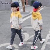 童裝男童套裝春裝新品兒童帥氣潮衣中大童小童春秋洋氣兩件套