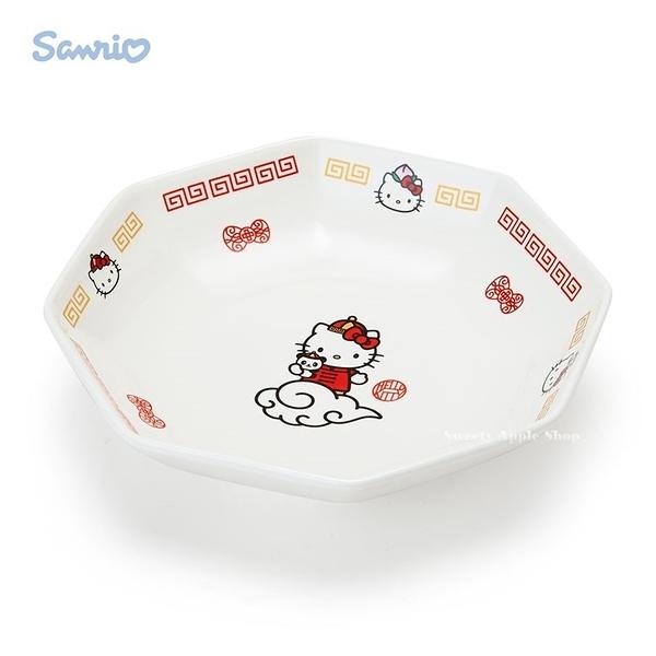 日本限定 HELLO KITTY 凱蒂貓 中華飯店風 陶瓷 盤子/餐盤
