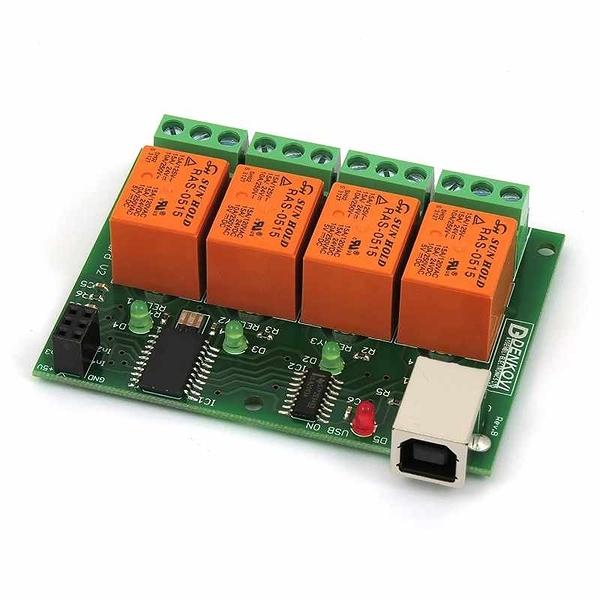 Denkovi USB 4 Channels 10A 繼電器模塊 Home Automation v2 [2美國直購]