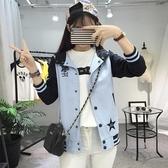 薄版外套新品少女春秋裝短款夾克正韓百搭棒球服初中高中學生  快速出貨