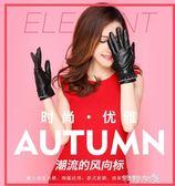 手套女士秋冬季韓版可愛蕾絲保暖加絨加厚開車騎車觸屏皮手套 芊惠衣屋