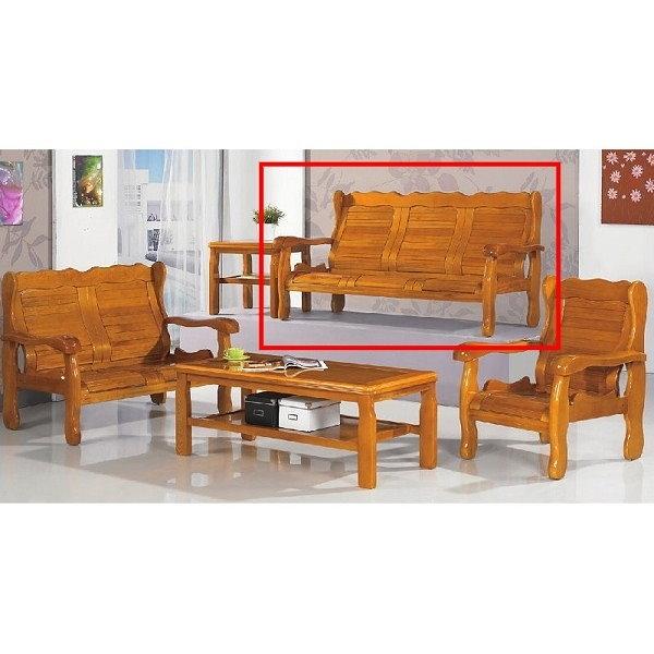 沙發 PK-303-10 503型柚木組椅三人椅(不含茶几)【大眾家居舘】