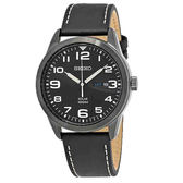 SEIKO精工專賣店  SNE477P1  簡約風格太陽能男錶 皮革錶帶 防水100米 夜光指針 日曆顯示