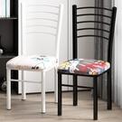 簡易餐椅現代簡約經濟型家用餐廳靠背凳子北歐化妝椅書桌鐵藝椅子 夢幻小鎮「快速出貨」