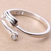 925純銀戒指鑲鑽-生日情人節禮物玫瑰花造型獨特美艷流行女飾品73ae34【巴黎精品】