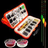 魚鉤套裝魚鉤組合漁具配件盒收納盒魚鉤經濟套裝魚鉤魚線浮漂套裝 挪威森林
