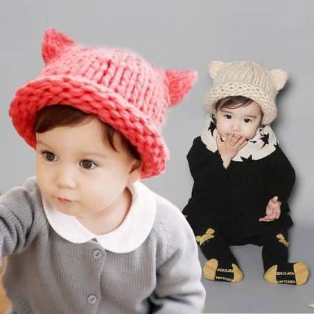 童裝 毛帽 粗針織幼兒毛線帽  新年寒流必備 童裝  兒童 橘魔法 magic baby 現貨