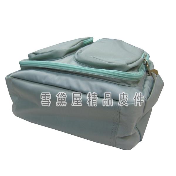 ~雪黛屋~WIND-TOOK 後背包中容量可A4資夾8吋電腦內外固定水瓶多袋口固定拉桿防水尼龍布HWT6236