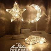 LED小彩燈檯燈ins少女心布置房間臥室生日夜燈浪漫裝飾串燈星星燈 「夢娜麗莎精品館」