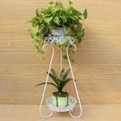 鐵藝歐式花架多層客廳落地陽台吊蘭花盤架綠蘿花架子花幾 亞斯藍