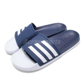 adidas 拖鞋 Adilette TND Slides 藍 白 基本款 舒適好穿 基本款 男鞋【PUMP306】 F35436