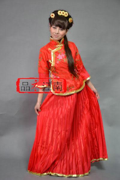 衣江南 古裝/少奶奶服裝/大紅色