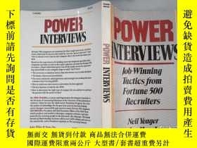 二手書博民逛書店Power罕見Interviews: Job-Winning Tactics from Fortune 500 R