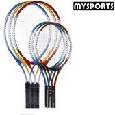 兒童款19寸網球拍3-12歲中小學生娛樂訓練用品青少年初學者套裝2只球拍 EY6840『MG大尺碼』