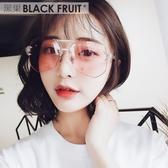 透明眼鏡新款大框眼睛多邊形個性太陽鏡 ☸mousika