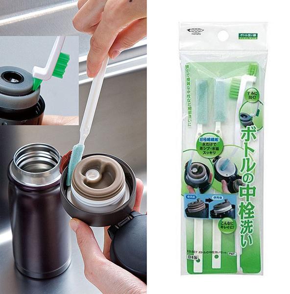 保溫瓶蓋刷具組 日本製 去水垢 去汙垢 乾淨 清潔 KB-807 該該貝比日本精品 ☆