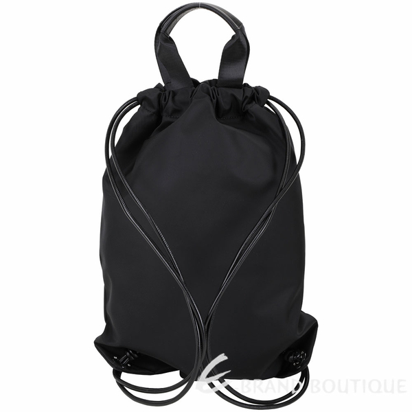 KARL LAGERFELD K/IKONIK 老佛爺厚磅尼龍束口後背包(黑色) 1940084-01