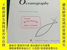 二手書博民逛書店Journal罕見Oceanography Progress in Physical Oceanography [