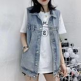 春夏季新款2021女裝網紅牛仔馬甲女韓版寬鬆無袖背心馬夾外套潮