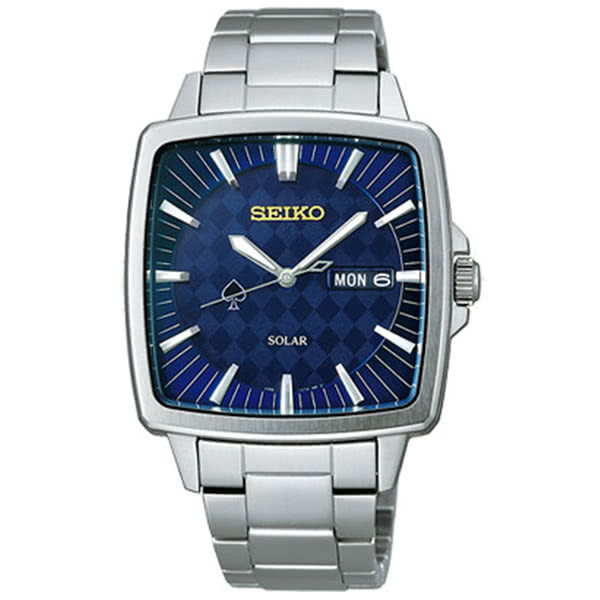 SEIKO精工 SPIRIT 魔幻貴族 西洋棋限量腕錶-寶藍/38mm V158-0AG0B