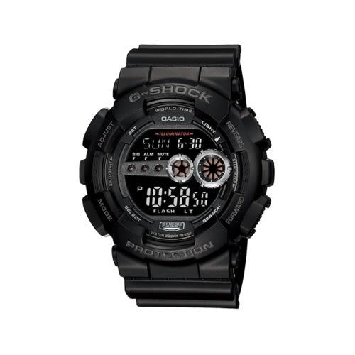 CASIO G-SHOCK耀眼奪目時尚運動腕錶/GD-100-1B