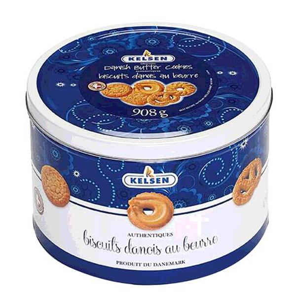 [COSCO代購] C103511 KELSEN DANISH BUTTER COOKIE 丹麥奶酥餅乾花漾版 908公克